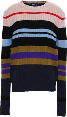 Markus Lupfer Striped Ribbed Merino Wool Sweater