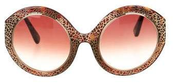 Oscar de la Renta Oversize Filigree Sunglasses