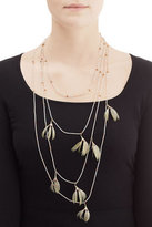 Valentino Feather and Bead Embellished Necklace