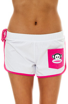 Paul Frank The Cool Breeze Short in Solid White & Fuchsia