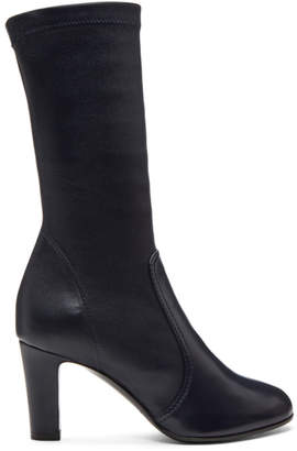 A-Plan-Application Navy Low Stretch Boots