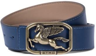 Etro Pegaso reversible leather belt