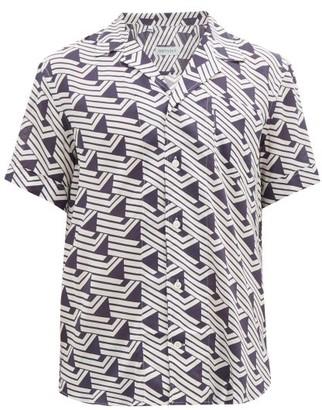 ODYSSEE Valbonne Geometric-print Shirt - Navy White