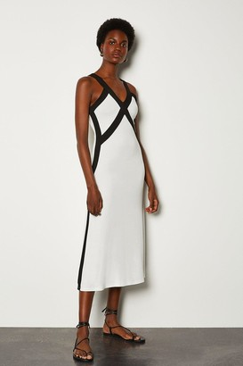 Karen Millen Cross Front Jersey Dress