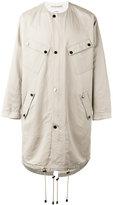 Ports 1961 collarless midi coat