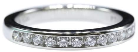 Tiffany & Co. Platinum & Diamond Band Ring Size 4.0