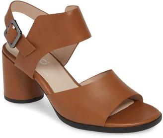 Ecco Shape 65 Leather Block Heel Sandal