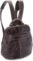 Le Donne Chocolate Distressed Westbury Leather Backpack