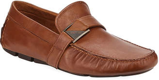 Kenneth Cole Men's Slip-On Leather Buckle Drivers