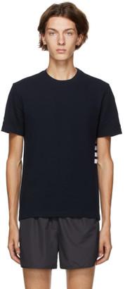 Thom Browne Navy Pique Engineered 4-Bar T-Shirt