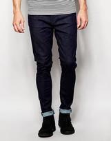 Nudie Jeans Pipe Led Super Skinny Fit Dry Dark Navy