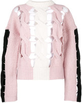 Circus Hotel distressed knitted jumper