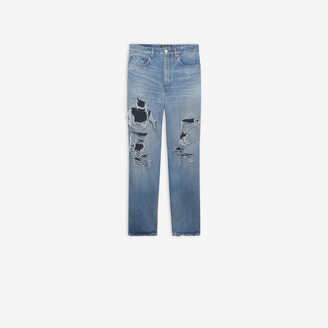 Balenciaga Regular Ripped Pants
