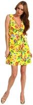 Kate Spade Petal Floral Cathleen Dress (Donovan Yellow Dark Petal Floral) - Apparel