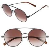 Raen Women's Scripps 55Mm Round Sunglasses - Black/ Burlwood