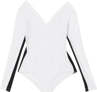 Burberry Two-tone Stretch Jersey Bodysuit