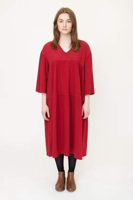 Beaumont Organic Cranberry Yara Organic Cotton Dress - Cranberry / Extra Small - Red