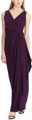 Chaps Women's Gathered Ruffle Evening Dress