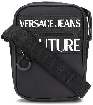 Versace Logo-Print Crossbody Bag