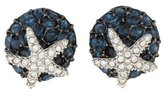 Kenneth Jay Lane Crystal & Starfish Clip-On Earrings