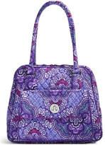 Vera Bradley Lilac Tapestry Turnlock-Satchel
