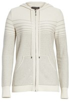 St. John Women's Micro Sequined Textured Stitch Knit Hoodie
