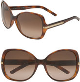 Metal Stripe Oversized Square Sunglasses
