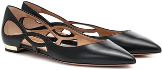 Aquazzura Forever leather ballet flats