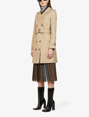 Burberry Islington short cotton trench coat