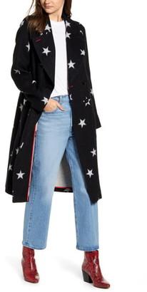 AVEC LES FILLES Star Double Face Trench Coat