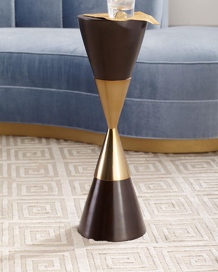 John-Richard Collection Hourglass Martini Side Table