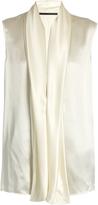 Haider Ackermann Nemesis silk-satin draped blouse