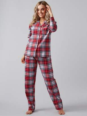 Boux Avenue Christmas Winter Check PJ's in a Bag - Red Mix