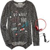 Self Esteem Graphic Sweatshirt and Headphones - Girls 7-16 and Plus