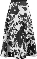 Vionnet Intarsia cotton midi skirt