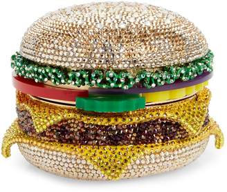 Judith Leiber Cheeseburger Crystal Embellished Clutch