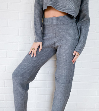 Collusion knitted joggers in grey