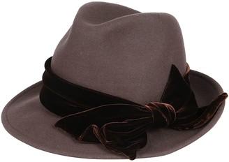 CA4LA Grey Wool Hat