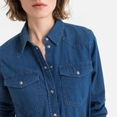La Redoute Collections Long-Sleeved Denim Shirt