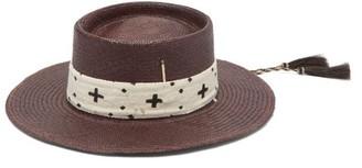 Nick Fouquet Holy Water Straw Hat - Purple