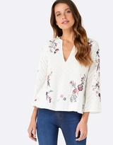 Forever New Moana Embroidered Top