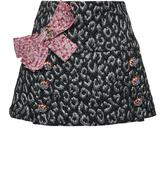 Dolce & Gabbana Metallic Leopard Jacquard Mini Skirt