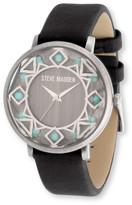Steve Madden Women's Analog Leather Strap Watch
