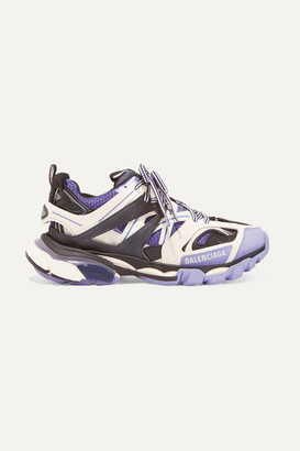 Balenciaga Track Logo-detailed Mesh And Rubber Sneakers - Lilac