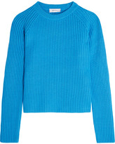 Carven Ribbed-knit Sweater - Bright blue