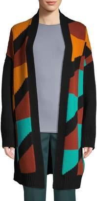 M Missoni Colorblock Virgin Wool Cardigan