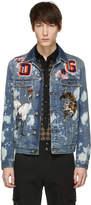 Dolce & Gabbana Blue Denim Embroidered Patches Jacket