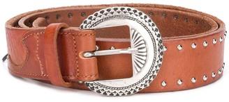 Golden Goose Stud-Embellished Buckle Belt