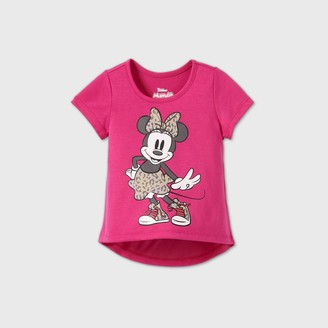 Disney Toddler Girls' Minnie Mouse Short Sleeve T-Shirt -