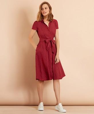 Brooks Brothers Floral-Print Dobby Midi Shirt Dress